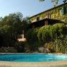 Blick über den Pool auf das Ferienhaus 'Podere Poggio Ventoso' auf dem 'Poggio Ventoso' - Foto © Maibritt Olsen