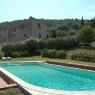 Blick über den Pool des Ferienhauses 'Podere Romitorio' auf dem 'Poggio Ventoso' - Foto © Maibritt Olsen